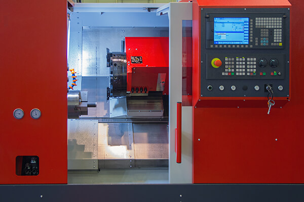 Industrial equipment of cnc milling machine center in tool manufacture workshop