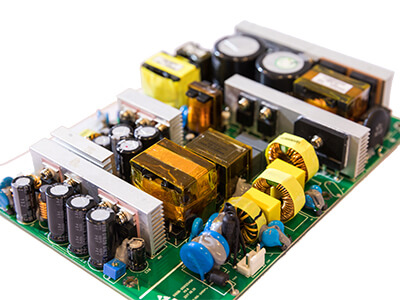 Power supply board close-up