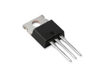 Thyristor on white background